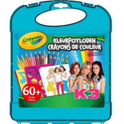 Crayola potlood: K3 Kleurpotloden Tekenkoffer - Multi kleuren