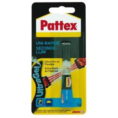 Pattex Secondelijm Ultra Gel, 3g lijm - Zwart, Geel