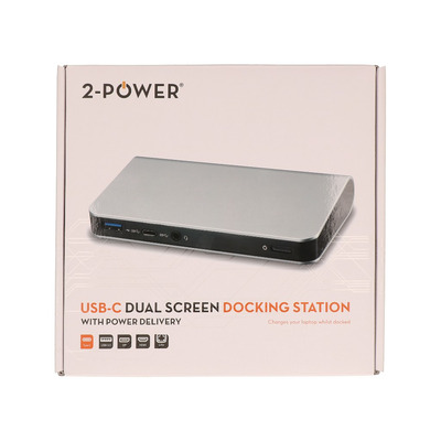 2-Power DOC0105A Docking station - Zilver