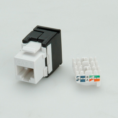 Value Keystone Jack, Cat.6, RJ-45, unshielded, 180°, toolless white Patch panel - Wit