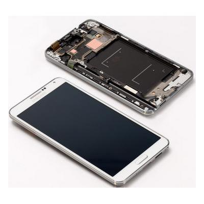 Samsung mobile phone spare part: SM-N9005 Galaxy Note 3, Complete Front+LCD+Touchscreen, white