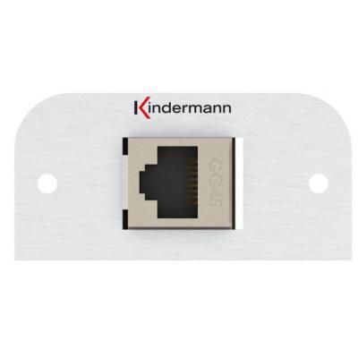 Kindermann Adapter plate Cat-7 (GG45) Inbouweenheid - Aluminium