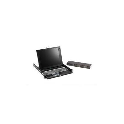 Black Box ServTray Rack console - Zwart