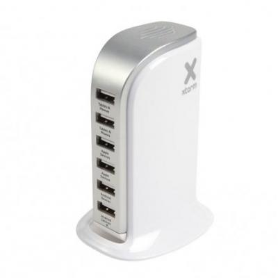 Xtorm hub: 6 x USB Out, White / Silver, 200g - Zilver, Wit
