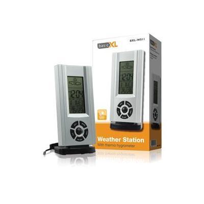 Basicxl weerstation: Weerstation met thermo-hygrometer - Zilver