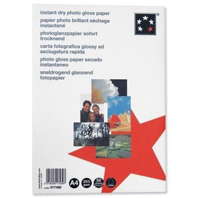 5star fotopapier: Photo Inkjet Paper Gloss 265gsm A4 White, 50 sheets - Wit