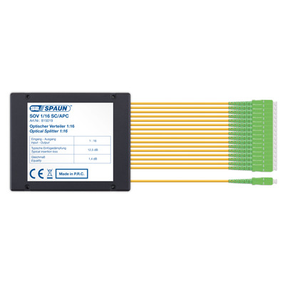 Spaun SOV 1/16 SC/APC Kabel splitter of combiner - Zwart