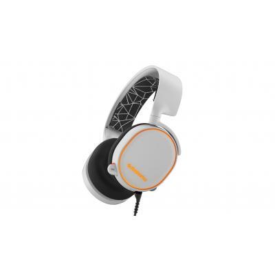 Steelseries headset: Arctis 5 - Zwart, Wit