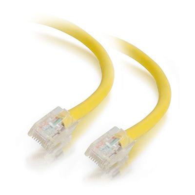 C2G 0.5 m Cat5e Non-Booted Unshielded (UTP) netwerkpatchkabel - geel Netwerkkabel