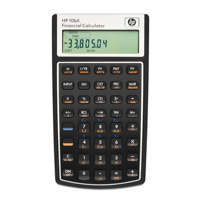 Hp calculator: 10bII - Zwart, Wit