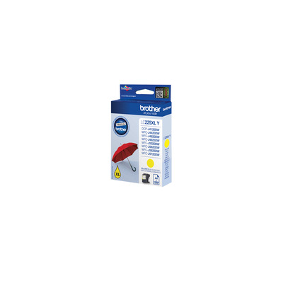Brother LC-225XLBK Yellow Ink (1.200 pages) Inktcartridge - Geel