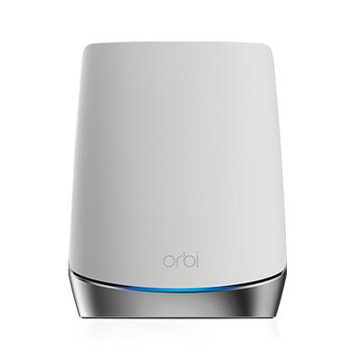 Netgear Orbi RBS750 Tri-band AX4200 WiFi 6 Satellite Wifi-versterker - Roestvrijstaal, Wit