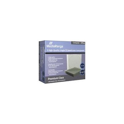 Mediarange : 10,4mm clear single retailpack - Transparant