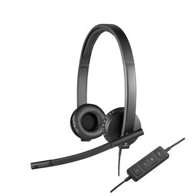 Logitech H570e Headset - Zwart