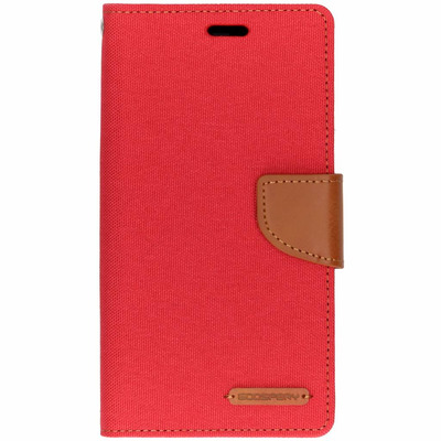 Canvas Diary Booktype iPhone Xr - Rood / Red Mobile phone case