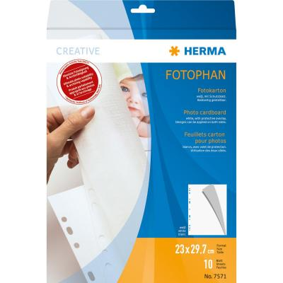 Herma showtas: Photo cardboard 230x297 mm white 10 sheets - Wit