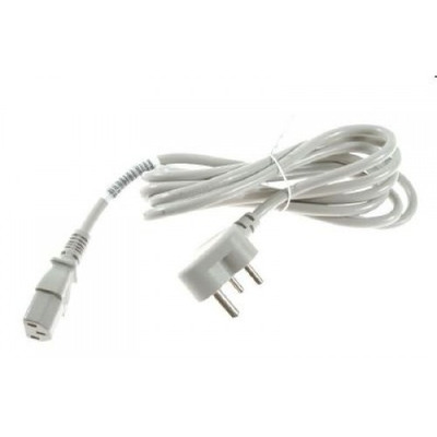 HP Power cord (Flint Gray) - 17 AWG, 2.3m (7.5ft) long - Has straight (F) C13 receptacle (for 220V in Europe, Saudi .....