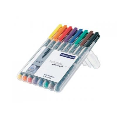 Lumocolor markeerstift: OHP/CD/DVDmarker Lc318 F ass/etui 8