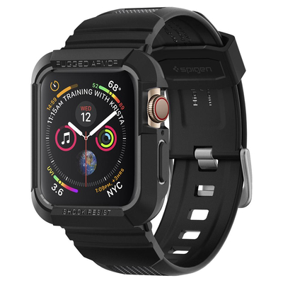 Spigen Apple Watch Series 4 (44mm) Case Rugged Armor Pro, TPU - Zwart