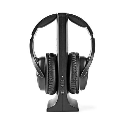 Nedis Draadloze hoofdtelefoon, radiofrequentie (RF), oorbedekkend, laadstation, zwart Headset
