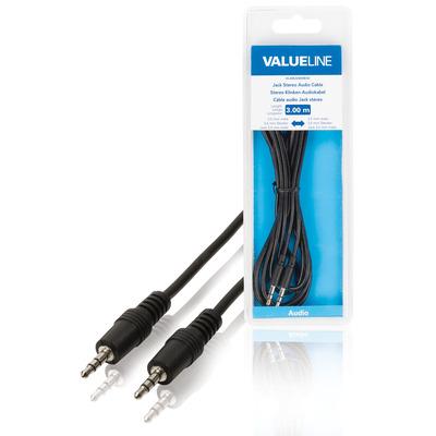 Valueline Jack stereo audiokabel 3.5 mm mannelijk - 3.5 mm mannelijk 3.00 m zwart