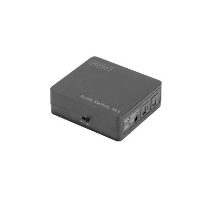 Digitus Audio switch : S/PDIF, LPCM2.0, DTS, Dolby-AC3, 60.5 x 20.5 x 54 mm, 42 g - Zwart