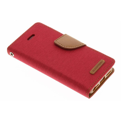 Canvas Diary Booktype iPhone SE / 5 / 5s - Rood Mobile phone case