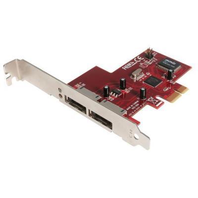 Startech.com interfaceadapter: 2-poort PCI Express eSATA Controller/Adapter-kaart
