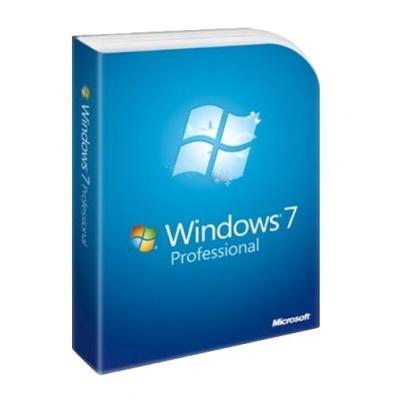 Microsoft Besturingssysteem: Windows 7 Professional, SP1, 64-bit, 1pk, DSP, OEM, DVD, DE
