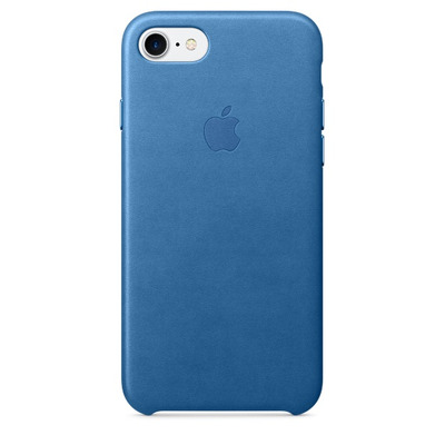 Apple mobile phone case: Leren hoesje voor iPhone 7 - Zeeblauw