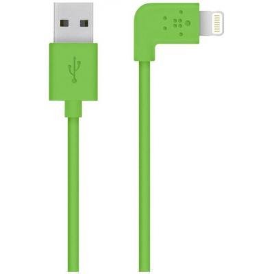 Belkin USB kabel: Flat Lightning - Groen