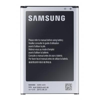 Samsung batterij: Battery, f/ Note 3, Li-ion, 3.8V, 12.16Wh, 3200mAh - Zwart, Zilver