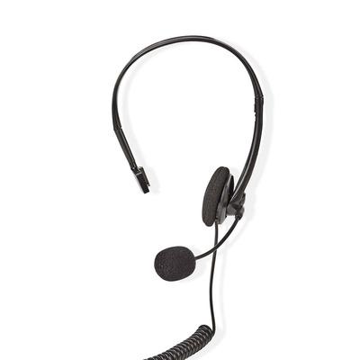 Nedis Telefoon, On-Ear, RJ9-Connector, 2,2 m, Zwart Headset