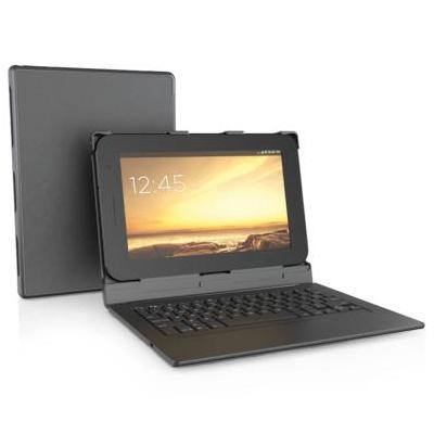 Zagg mobile device keyboard: auto-fit folio 10 - Zwart