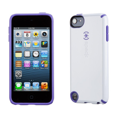 Speck iPod Touch 5 CandyShell (White / Grape Purple) Apparatuurtas