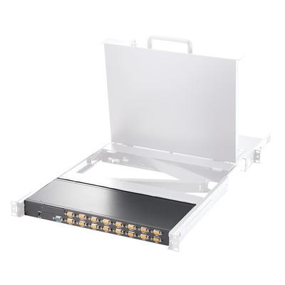 "ROLINE 19"" VGA, 1 Gebruiker - 16 PCs (PS/2+USB) KVM switch - Zwart, Wit"