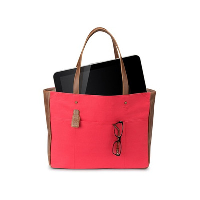 "Hp laptoptas: 14"" Ladies Red Tote - Bruin, Rood"