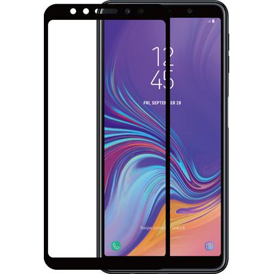 Azuri Tempered Glass flat RINOX ARMOR - zwart frame - Samsung A7 2018 Screen protector - Zwart,Transparant