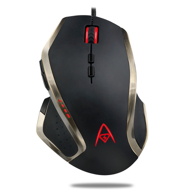 Adesso Multi-Color 9-Button Programmable Gaming Mouse Muis - Zwart,Brons