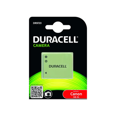 Duracell Camera Battery - replaces Canon NB-6L Battery - Grijs