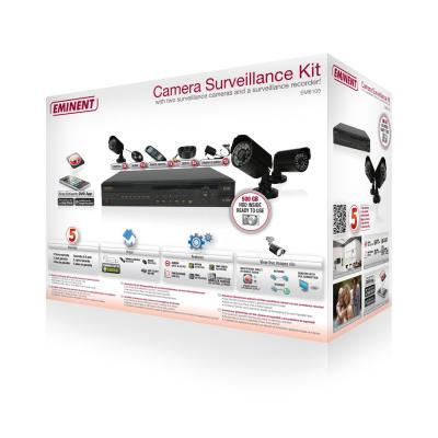 Eminent video toezicht kit: Camera Surveillance Kit met Recorder en 2 Binnen/Buiten Camera's
