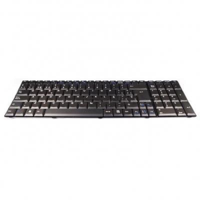 Acer toetsenbord: Keyboard UK English - Zwart, QWERTY