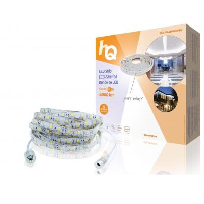 Hq lichtstrip: 5000 lumen, 60 LEDs, IP54, 7.2 W/m, 5 m