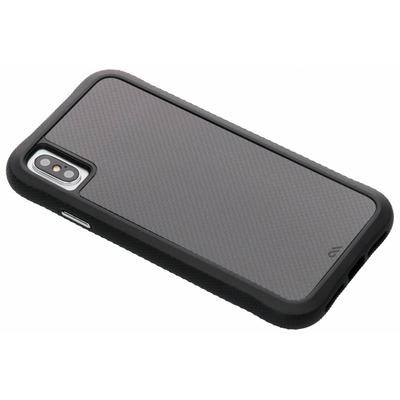 Carbon Fiber Backcover iPhone Xs Max - Zwart / Black Mobile phone case