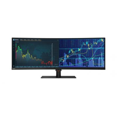 "Lenovo ThinkVision P44w 43,4"" UltraWide 4K UHD VA Monitor - Zwart"