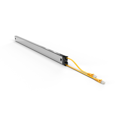 PATCHBOX ® Plus+ Cat.6a Cassette (STP, Yellow, Long Range 1.8m + 0.7m / 46RU) Netwerkkabel - Geel