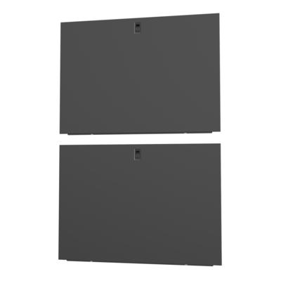 Vertiv 48U x 1100mm, Deep Split, Side Panels, Black, 2x Rack toebehoren - Zwart