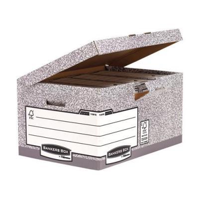 Fellowes archiefdoos: Bankers Box, System flip top maxi, Grijs