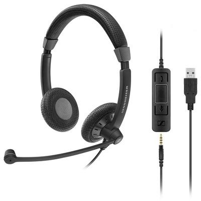 Sennheiser SC 75 USB MS Headset - Zwart