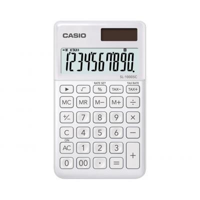 Casio BIG LC-display 10 digit, 1x LR54, 55g Calculator - Wit